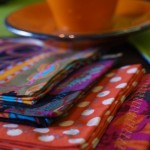 Colorful napkins are easy and fun to make.