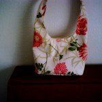 A floral tote I made out of a canvas print.