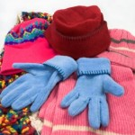 Fleece accessories rival knitted and crocheted items for warmth and practicality.