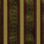 Rust stripes are striking when paired with gold and green in this Beacon Hill fabric