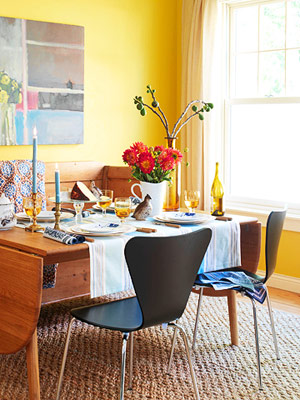 Abc 39 s of decorating y is for the color yellow for Bold dining room colors