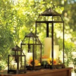 The clean lines of the Malta lantern from Pottery Barn will enhance any style decor