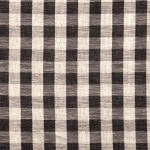 Black and white check 100% cotton never goes out of style