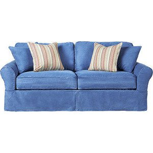 Color of the month denim blue blog Denim couch and loveseat