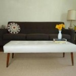 Fabric:  Vinyl and an easy DIY for a mid-century vinyl bench