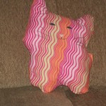 Stuffed pillow toys are an easy gift to make.  Remember Candy Kitten?