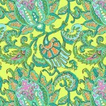 Amy Butler Dancing Paisley Lemon is part of the Soul Blossoms collection, which is used in the Sunshine Quilt.