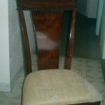 This lovely large dining chair is in need of a makeover.