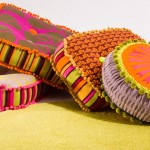 fabric remnant pillows from deryn relph
