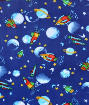 Outerspacefleece for Space flannel fabric