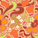 Amy Butler Disco Flower Tangerine is perfect for spring dresses.