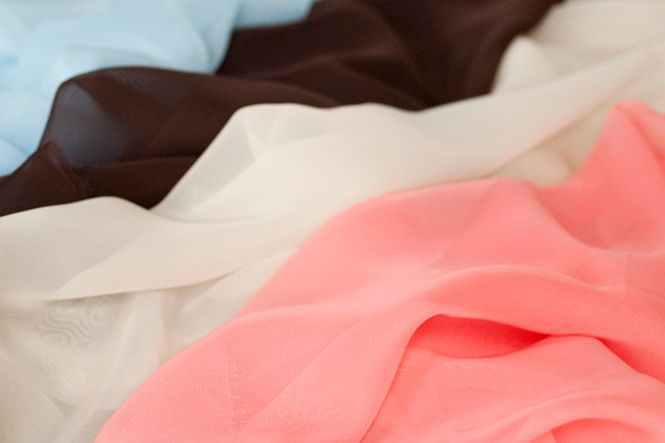 Polyester Chiffon. Self-facing is ideal for sheer fabric such as chiffon.