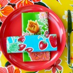 Colorful oilcloth is perfect for outdoor tablecloths.
