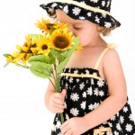A sweet child's summer outfit done in a cool cotton print.