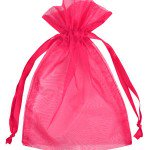 "6"" X 10"" Hot Pink Organza Gift Bag"