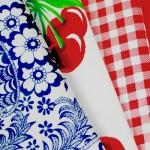 Oilcloth prints range from fun to elegant.