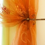 Embroidered organza makes wonderful sheer curtains.