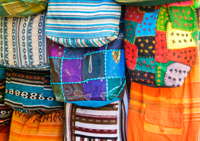 Oriental colorful bags