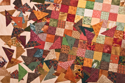Patchwork fabric can be used in many ways. It's not just for quilts!