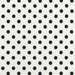 Black on White Polka Dots Linen Print