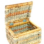 This sewing basket could be used to store patterns rather than notions.