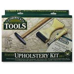 Upholstery tools are essential when covering large pieces like armchairs and sofas.