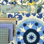 Blue decor fabric comes in many variations.