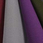 Gabardine is a practical fabric now made out of easy-to-care polyester.