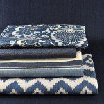 Ralph Lauren fabrics provide a wonderful selection for the new trend to blue interiors.