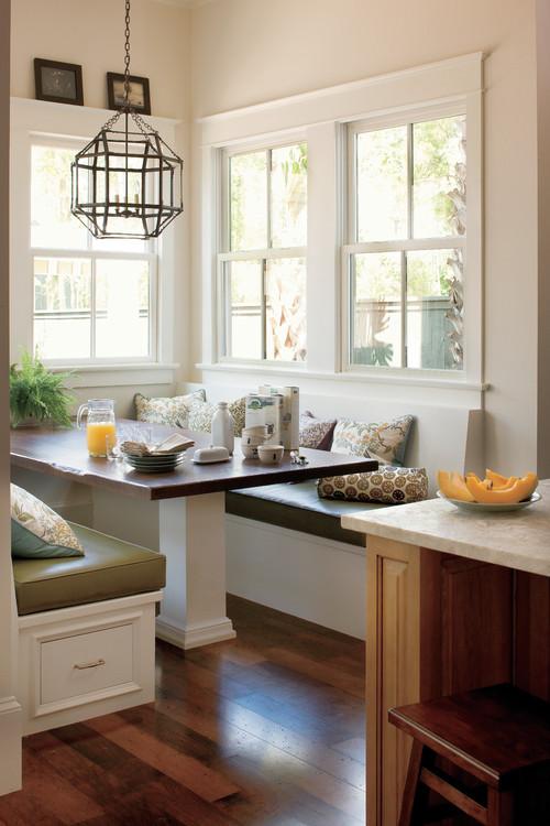 Vinyl breakfast nook blog for Kitchen morning room designs