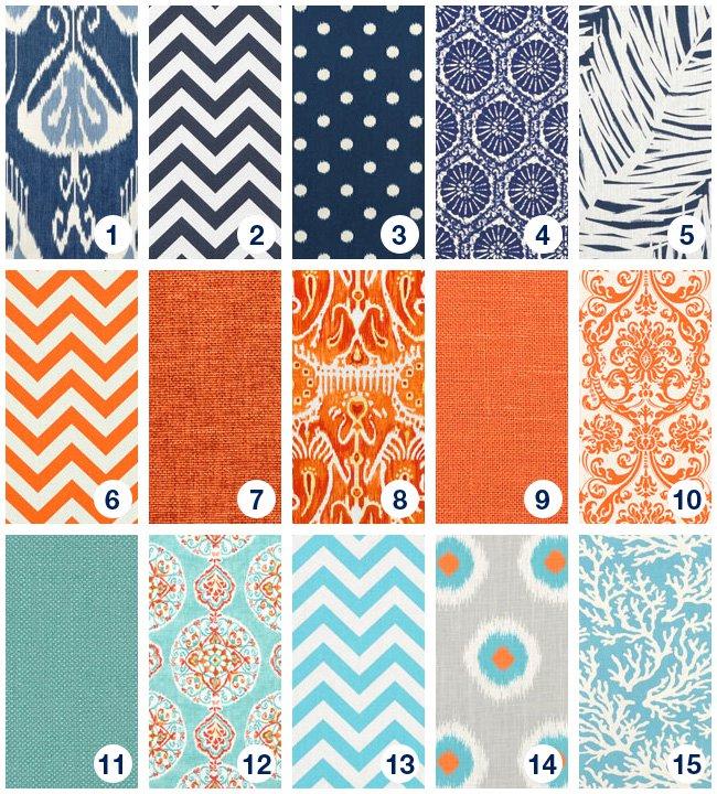 Blue And Orange Family Room Onlinefabricstore Net Blog