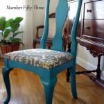 I Spy...Premier Prints on Vintage Chair