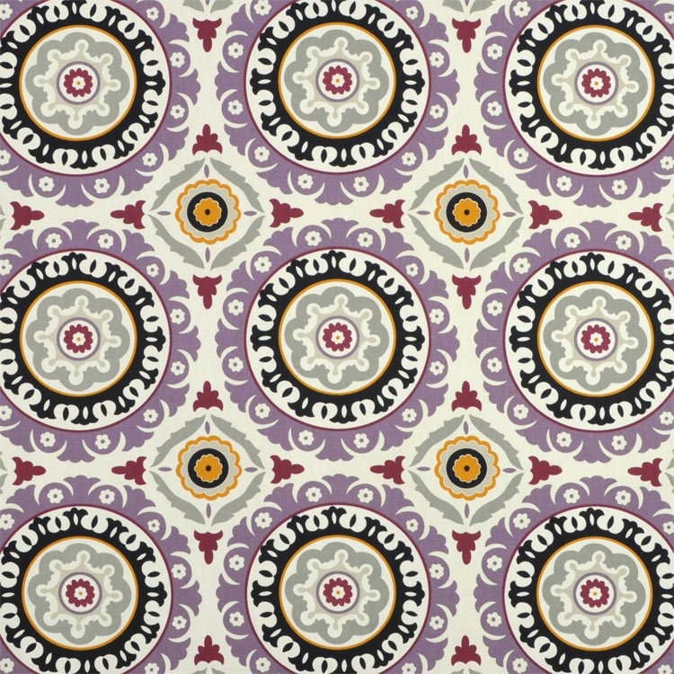 Waverly Solar Flair Onyx/Lilac Fabric