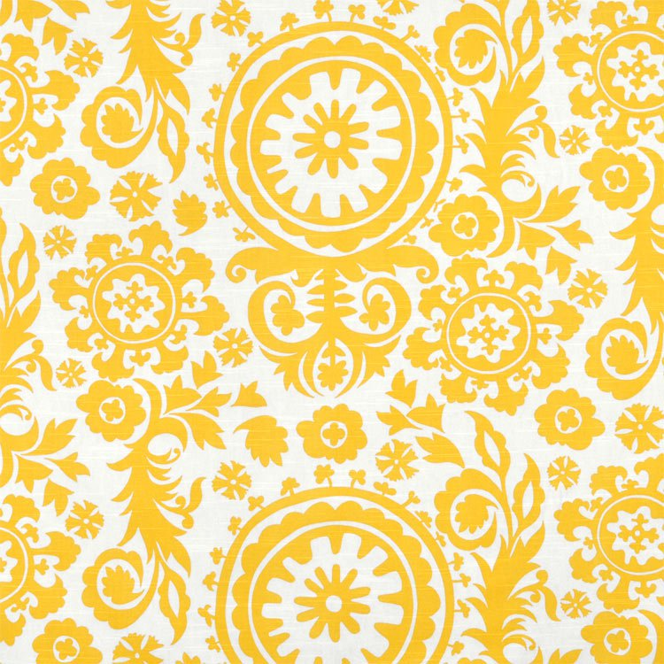 Premier Prints Suzani Corn Yellow Slub Fabric