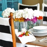Black & White Fabric Styles (and a Chair Cover Tutorial)