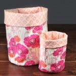Handmade Gift: Fabric Storage Bins