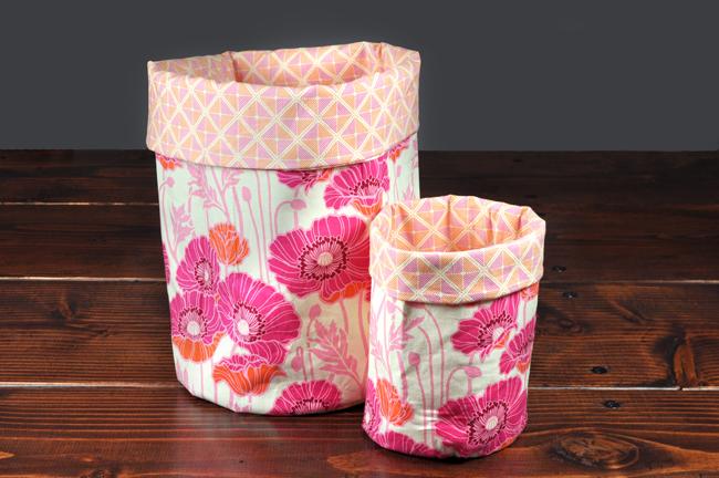 Handmade Fabric Storage Baskets : Handmade gift fabric storage bins fabricstore