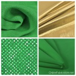 Green and Gold Fabric For St. Patrick's Day