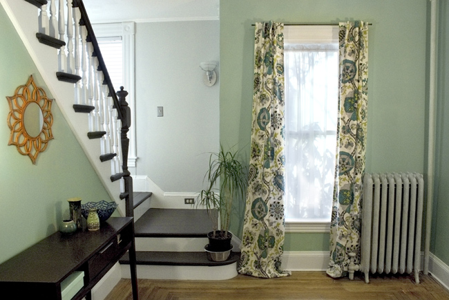 how to sew lined back tab curtains blog. Black Bedroom Furniture Sets. Home Design Ideas