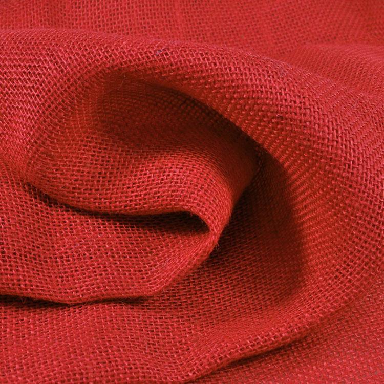 Barn Red Burlap Fabric