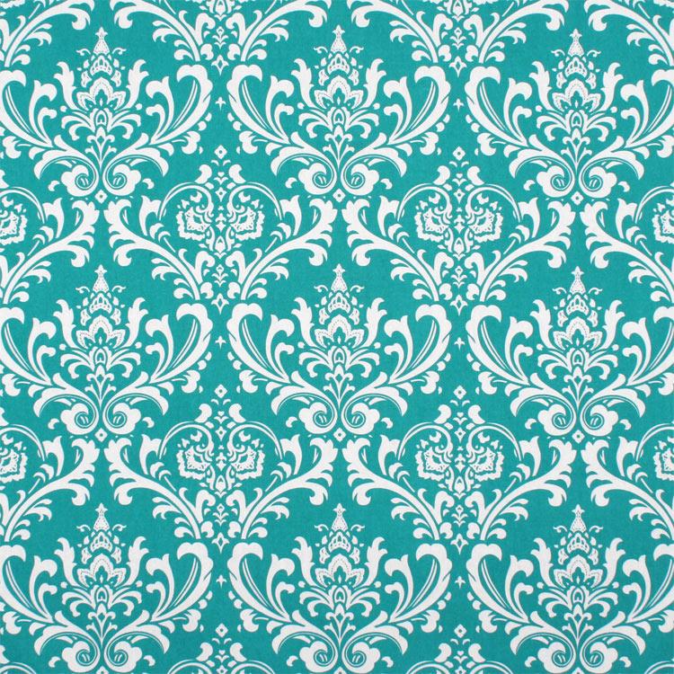 Premier Prints Ozbourne True Turquoise Fabric