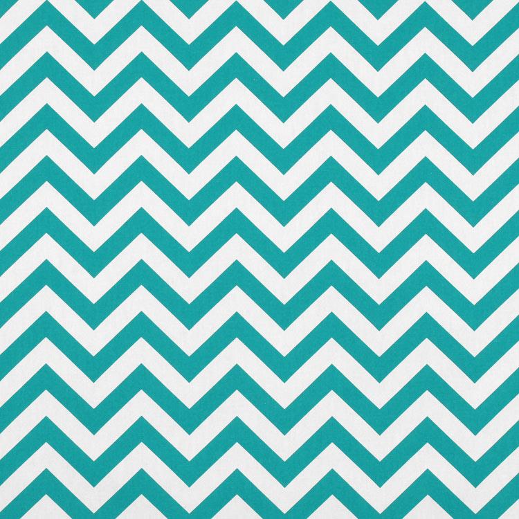 Premier Prints Zig Zag True Turquoise Fabric