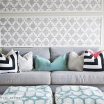 DIY Geometric Pillow with Piping