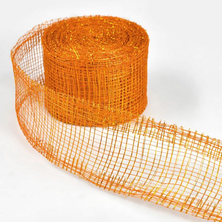 "2"" Orange Sinamay Ribbon - 10 Yards"