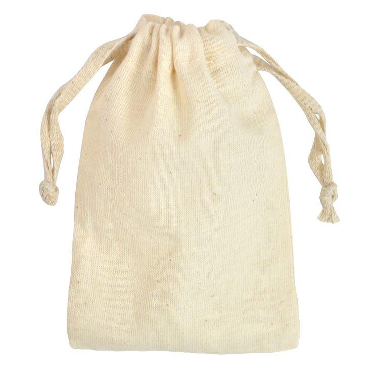 "3"" x 5"" Cotton Drawstring Bags – 12 Pack"