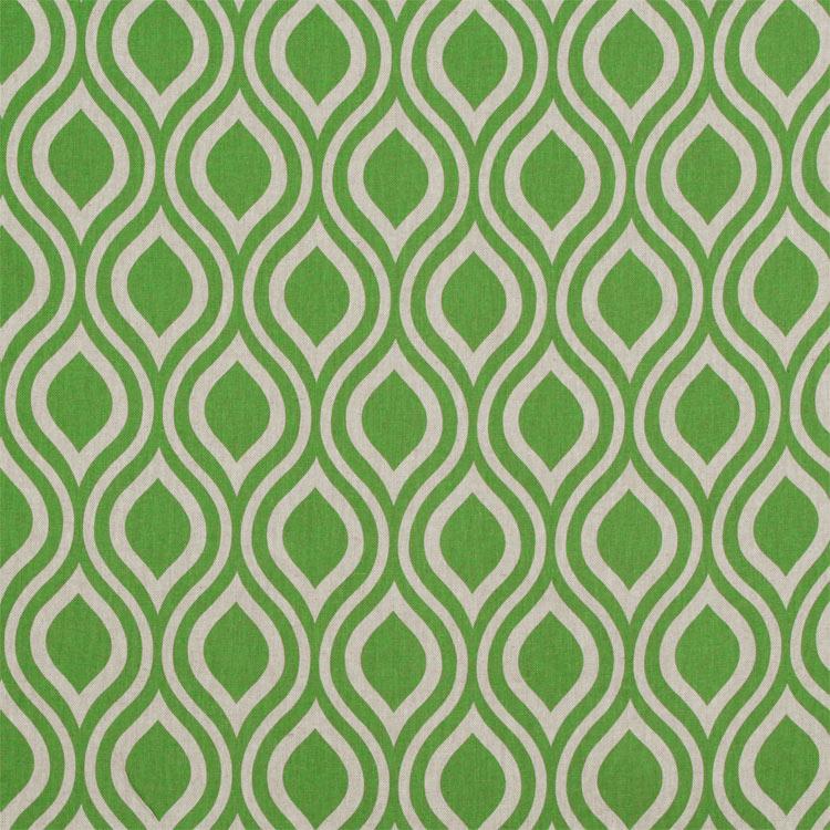 Premier Prints Nicole Organic Green Laken Fabric