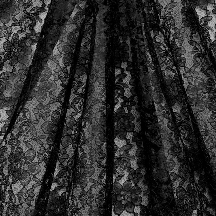 Black Raschel Lace Fabric