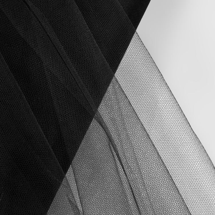 108 Inch Black Tulle Fabric