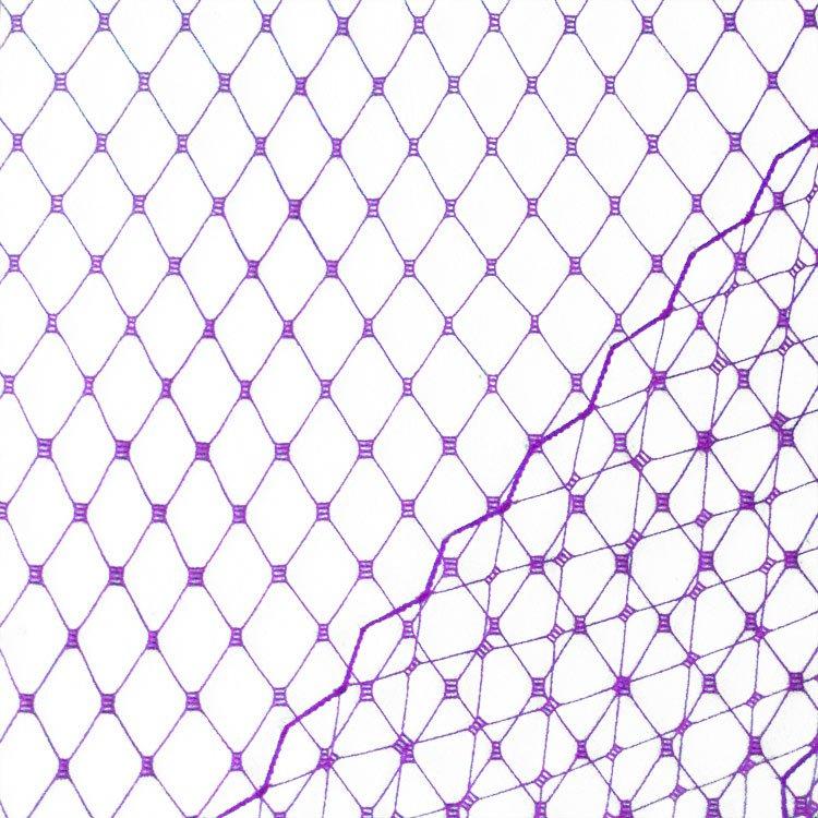 Purple Russian Netting Fabric