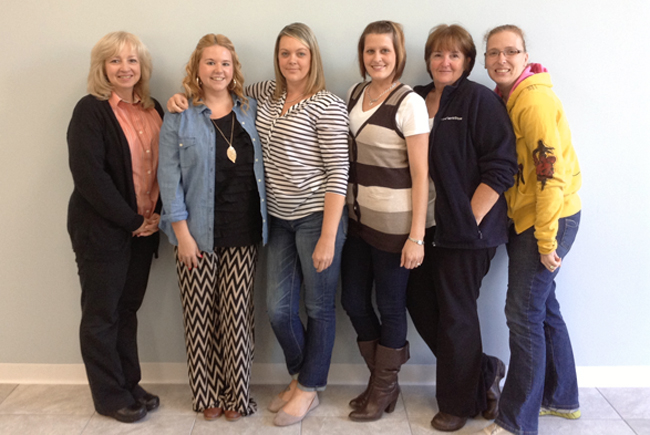 From left to right Judy, Rachel, Connie, Amanda, Jean and Heather
